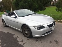 USED 2004 54 BMW 6 SERIES 4.4 645CI 2d 329 BHP RARE MANUAL CONVERTIBLE IN EXCELLENT CONDITION WITH A NEW MOT AND FSH