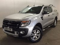 USED 2014 14 FORD RANGER 3.2 WILDTRAK 4X4 DCB TDCI 1d 197 BHP CANOPY LEATHER SIDE STEPS ONE OWNER FSH NO FINANCE REPAYMENTS FOR 2 MONTHS STC. COMMERCIAL (£12900+2580VAT). 4WD. TRUCKMAN CANOPY. BODYKIT. STUNNING SILVER MET WITH FULL BLACK LEATHER WILDTRAK SPORTS TRIM. ELECTRIC HEATED SEATS. CRUISE CONTROL. AIR CON. SIDE STEPS. 18 INCH ALLOYS. COLOUR CODED TRIMS. PRIVACY GLASS. PARKING SENSORS. REVERSING CAMERA. BLUETOOTH PREP. PAS. R/CD PLAYER. EW. MFSW. TOWBAR. MOT 06/18. ONE OWNER FROM NEW. FULL SERVICE HISTORY. FCA FINANCE APPROVED DEALER. TEL 01937 849492
