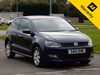 USED 2014 14 VOLKSWAGEN POLO 1.4 MATCH EDITION 3d 83 BHP
