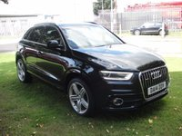 USED 2014 14 AUDI Q3 2.0 TDI QUATTRO S LINE PLUS 5d AUTO 177 BHP ANY PART EXCHANGE WELCOME, COUNTRY WIDE DELIVERY ARRANGED, HUGE SPEC