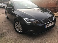 USED 2014 64 SEAT LEON 1.6 TDI ECOMOTIVE SE TECHNOLOGY 5dr 110 BHP 1 Owner, Sat Nav, heated seats, Parking sensors.