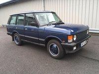 1990 LAND ROVER RANGE ROVER CLASSIC 3.9 VOGUE EFI AUTO  £12000.00