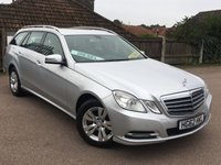 USED 2012 62 MERCEDES-BENZ E CLASS 2.1 E220 CDI BLUEEFFICIENCY S/S SE Estate 5d AUTO 170 BHP