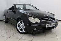 USED 2005 05 MERCEDES-BENZ CLK 3.5 CLK350 AVANTGARDE 2DR 269 BHP MERCEDES SERVICE HISTORY + HEATED LEATHER SEATS + SAT NAVIGATION + BLUETOOTH + CRUISE CONTROL + MULTI FUNCTION WHEEL + 17 INCH ALLOY WHEELS