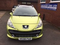 USED 2008 08 PEUGEOT 207 1.6 SW SPORT 5d AUTO 118 BHP 2 OWNERS, FULL SERVICE HISTORY, AUTO