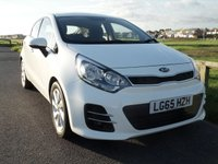 2015 KIA RIO 2 1.4 5 Dr AUTOMATIC,107 BHP WHITE, 1 OWNER, ONLY 13200 MILES £8895.00