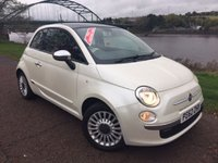 USED 2012 62 FIAT 500 1.2 LOUNGE 3d 69 BHP **FULL RED LEATHER**