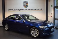 USED 2013 62 BMW 5 SERIES 2.0 520D SE 4DR 181 BHP + FULL SERVICE HISTORY + BUISNESS SATELLITE NAVIGATION + FULL LEATHER INTERIOR + HEATED SEATS + REVERSING CAMERA + PARKING SENSORS + 17 INCH ALLOY WHEELS +