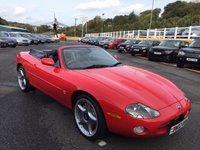 USED 2002 02 JAGUAR XKR 4.2 XKR CONVERTIBLE 2d 400 BHP Bright Red with Black leather, later 4.2 engine 400bhp Supercharged