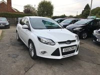 USED 2012 12 FORD FOCUS 1.6 ZETEC 5d 104 BHP NEED FINANCE? WE STRIVE FOR 94% ACCEPTANCE