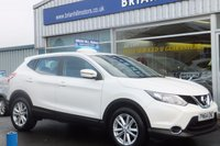USED 2014 64 NISSAN QASHQAI 1.5 DCi ACENTA SMART VISION 5dr .........ONE OWNER. (10,000 mls. only) FULL NISSAN SERVICE HISTORY. CLIMATE CONTROL, 17inch ALLOY WHEELS. CRUISE CONTROL (Zero road tax & 74mpg)