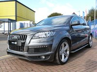 """USED 2013 13 AUDI Q7 3.0 TDI QUATTRO S LINE PLUS 5d AUTO 245 BHP FULL AUDI HISTORY ~ HUGE SPECIFICATION ~ BLACK EDITION ~ FULL HEATED LEATHER ~ SAT NAV ~ BOSE SOUNDS ~ POWER TAILGATE ~ 21"""" ALLOYS ~ PARKING AID AND REVERSE CAMERA ~ VOICE CONTROL ~ RUNNING BOARDS"""
