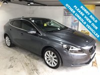 USED 2013 13 VOLVO V40 2.0 D4 SE LUX NAV 5d AUTO 177 BHP Full service history,   Full leather upholstery,   Heated front seats,   Heated front screen,   Electric driver's seat,   Panoramic glass roof,   Bluetooth,   Satellite Navigation,   Reversing camera + sensors,   Volvo self-parking system