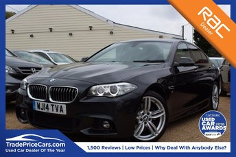 2014 BMW 5 SERIES 2.0 520D M SPORT 4d AUTO 181 BHP £18500.00