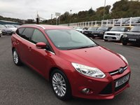 USED 2012 12 FORD FOCUS 1.6 TITANIUM X TDCI 5d 113 BHP Black leather, Sat Nav, SONY Premium, Parking Pack plus more