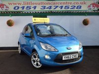 USED 2012 62 FORD KA 1.2 TITANIUM 3d 69 BHP SERVICE HISTORY, IDEAL FIRST CAR, £30 ROAD TAX, FINANCE AVAILABLE