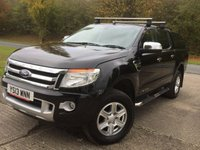 USED 2013 13 FORD RANGER 2.2 LIMITED 4X4 DCB TDCI 1d 148 BHP HARD TOP CANOPY LEATHER SIDE STEPS ONE OWNER  NO FINANCE REPAYMENTS FOR 2 MONTHS STC. COMMERCIAL (£14900+2980VAT). 4WD. HARD TOP CANOPY. FACELIFT MODEL. STUNNING BLACK MET WITH FULL BLACK LEATHER TRIM. ELECTRIC HEATED SEATS. CRUISE CONTROL. AIR CON. SIDE STEPS. 17 INCH ALLOYS. COLOUR CODED TRIMS. PRIVACY GLASS. PARKING SENSORS. LOAD LINER KIT. ROOF RAILS. BLUETOOTH PREP. PAS. R/CD PLAYER. 6 SPEED MANUAL. MFSW. TOWBAR. MOT 07/18. ONE OWNER FROM NEW. FULL SERVICE HISTORY. FCA FINANCE APPROVED DEALER. TEL 01937 849492