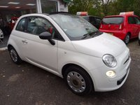 USED 2014 64 FIAT 500 1.2 CONVERTIBLE POP WITH AIR-CONDITIONING 3d 69 BHP One Owner from new, Comprehensive Service History + Just Serviced by ourselves, MOT until September 2018 (no advisories), Great on fuel! Only £30 Road Tax!