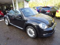 USED 2014 64 VOLKSWAGEN BEETLE 2.0 DESIGN TDI BLUEMOTION TECHNOLOGY 3d 104 BHP CONVERTIBLE Comprehensive Volkswagen Service History (3 Stamps), Recently Serviced by Volkswagen, NEW MOT (to be completed), One Previous Owner