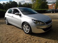 USED 2015 15 PEUGEOT 308 1.6 HDI S/S ACTIVE 5d 115 BHP High Mpg , Touch Screen Radio , 6 Speed