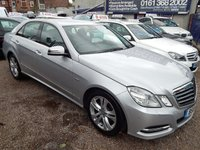 2010 MERCEDES-BENZ E CLASS 2.1 E220 CDI BLUEEFFICIENCY AVANTGARDE 4d AUTO 170 BHP £6995.00