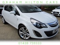 "USED 2013 63 VAUXHALL CORSA 1.4 SE 5d AUTO 98 BHP GLACIER WHITE, ONE LADY OWNER, HALF LEATHER, HEATED SEATS, 17"" ALLOYS, ADAPTIVE FORWARD LIGHTING, TINTED GLASS, FULL SERVICE HISTORY, SPARE KEY"