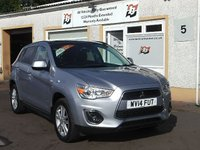 USED 2014 14 MITSUBISHI ASX 1.8 DI-D 4 5d 114 BHP Full Leather , 4wd variable , 4 Service stamps ,Panoramic  Roof