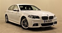 USED 2015 15 BMW 5 SERIES 2.0 520D M SPORT 4d 188 BHP + 1 PREV OWNER +  SERVICE HISTORY + SAT NAV + AIR CON + LEATHER SEATS