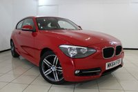 USED 2014 64 BMW 1 SERIES 1.6 116I SPORT 3DR 135 BHP AIR CONDITIONING + BLUETOOTH + CRUISE CONTROL + MULTI FUNCTION WHEEL + 17 INCH ALLOY WHEELS