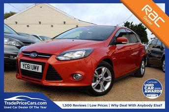 2012 FORD FOCUS 1.6 ZETEC 5d AUTO 124 BHP £7000.00