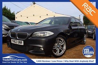2012 BMW 5 SERIES 2.0 525D M SPORT TOURING 5d AUTO 215 BHP £15250.00