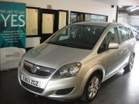 USED 2013 63 VAUXHALL ZAFIRA 1.6 EXCLUSIV 5d 113 BHP This Zafira is finished in Star Silver with Black cloth seats. It is fitted with power steering, remote locking, electric windows and mirrors, air conditioning, seven seats, CD Stereo and more. It has been owned by the supplying dealer + one private owner and comes with a full service history consisting of 4 stamps, invoices and old Mot certificates. Serviced at 5526/12089/17785/23055 miles!!. The current Mot runs till September 2018. Finance and extended warranties are available.