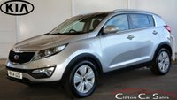 USED 2014 14 KIA SPORTAGE 1.7CRDi 3 ECO-DYNAMICS 5 DOOR 6-SPEED 114 BHP Finance? No deposit required and decision in minutes.