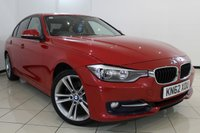 USED 2012 62 BMW 3 SERIES 2.0 320D SPORT 4DR 184 BHP BMW SERVICE HISTORY + HEATED LEATHER SEATS + SAT NAVIGATION PROFESSIONAL + PARKING SENSOR + BLUETOOTH + CRUISE CONTROL + MULTI FUNCTION WHEEL + 17 INCH ALLOY WHEELS