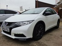 2014 HONDA CIVIC 1.8 i-VTEC Black Edition Hatchback 5dr £10495.00