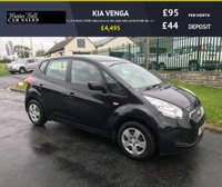 USED 2011 11 KIA VENGA 1 1.4 in black 29000 miles local car fsh comes fully serviced with full mot
