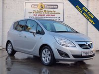 USED 2010 60 VAUXHALL MERIVA 1.4 SE 5d 119 BHP Full History Pan Roof Air Con 0% Deposit Finance Available
