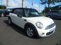 USED 2011 11 MINI CONVERTIBLE 1.6 ONE 2d 98 BHP MAIN DEALER + ONE OWNER - SERVICE HISTORY- REAR PARKING SENSORS