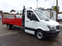 USED 2014 14 MERCEDES-BENZ SPRINTER 313 CDI LWB DROPSIDE WITH TAILIFT, 130 BHP [EURO 5], FULL SERVICE HISTORY