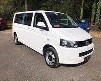 USED 2014 14 VOLKSWAGEN TRANSPORTER SHUTTLE SHUTTLE 9 SEAT LWB SE 140 BHP Satellite Navigation, 9 Seats, LWB, One Owner