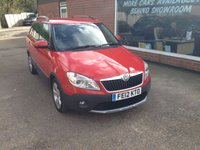 USED 2012 12 SKODA FABIA 1.6 SCOUT TDI CR 5 DOOR ESTATE 103 BHP IN RED  APPROVED CARS ARE PLEASED TO OFFER THIS SKODA FABIA 1.6 SCOUT TDI CR 5 DOOR ESTATE 103 BHP IN RED A GREAT CAR IN GREAT CONDITION INSIDE AND OUT WITH A FULL SERVICE HISTORY SERVICED AT 19K,33K,53K,64K,75K AND 87K.