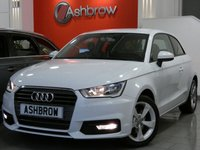 USED 2016 66 AUDI A1 1.4 TFSI SPORT 3d 123 S/S DAB RADIO, AUDI MUSIC INTERFACE FOR IPOD / USB DEVICES (AMI), BLUETOOTH PHONE & MUSIC STREAMING, AUDI DRIVE SELECT, DAYTIME RUNNING LIGHTS, FRONT FOG LIGHTS, 16 INCH 5 SPOKE ALLOYS, GREY CLOTH INTERIOR, SPORT SEATS, LEATHER MULTIFUNCTION STEERING WHEEL, ELECTRIC WINDOWS, ELECTRIC HEATED MIRRORS, AIR CONDITIONING, CD HIFI WITH SD CARD READER, ISO FIX, FOLDING REAR SEATS, AIRBAGS WITH PASSENGER OFF FUNCTION.  1 OWNER FROM NEW, BALANCE OF MANUFACTURERS WARRANTY, £30 ROAD TAX