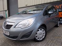 USED 2011 VAUXHALL MERIVA 1.4 S 5d 119 BHP Excellent Small Family MPV, No Fee Finance, No Deposit Necessary
