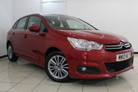 USED 2012 12 CITROEN C4 1.6 VTR PLUS HDI 5DR 91 BHP AIR CONDITIONING + PARKING SENSOR + CRUISE CONTROL + MULTI FUNCTION WHEEL + 16 INCH ALLOY WHEELS