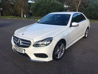 USED 2014 14 MERCEDES-BENZ E CLASS 2.1 E220 CDI AMG SPORT 4d 168 BHP AMG SPORT IN WHITE WITH BLACK LEATHER 29000 FSH