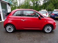 USED 2014 14 FIAT 500 1.2 CONVERTIBLE LOUNGE 3d 69 BHP Fiat Service History + Just Serviced by ourselves, One Lady Owner from new, MOT until August 2018, Great on fuel economy! Only £30 Road Tax! Convertible