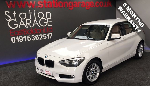 2012 62 BMW 1 SERIES 2.0 116D SE 5d 114 BHP OYSTER HEATED LEATHER