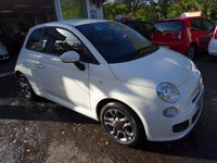 USED 2014 14 FIAT 500 1.2 S 3d 69 BHP Very Low Mileage, Full Fiat Service History, Recently Serviced by Fiat, NEW MOT (minimum 9 months), One Previous Owner