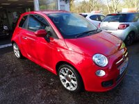 USED 2013 63 FIAT 500 1.2 S 3d 69 BHP Very Low Mileage, One Lady Owner from new, Service History + Just Serviced by ourselves, MOT until October 2018 (no advisories). Great on fuel economy! Only £30 Road Tax!