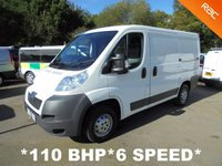 2014 PEUGEOT BOXER 2.2 HDI 333 L1H1 110 BHP 6 Speed **AIR CON** £5995.00